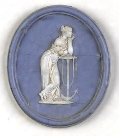 "Wedgwood ""Hope & Anchor"" Trial Medallion from the Wedgwood Museum"