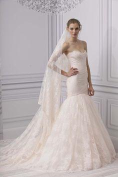 Monique Lhuillier bridal gown, wedding dress