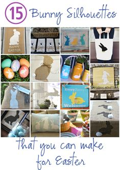15 Bunny Silhouette Crafts for Easter @Vanessa Mayhew & CraftGossip