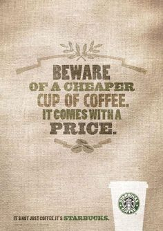 Starbucks Typography Ad