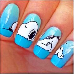 Snoopy nails!