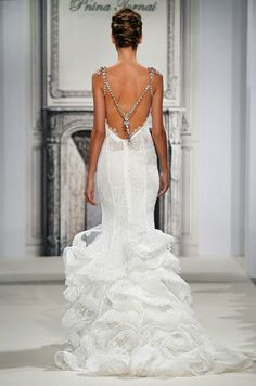 Breathtaking jewelry straps wedding dress. Pnina Tornai, Spring 2014