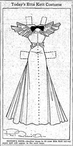 Etta Kett | Etta Kett –4-17-37 Final Fashions for Your Paper Doll Cut-Outs | YesterYear ...