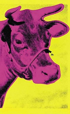 Andy Warhol: Cow  Love it!  Reminds me of the poem--I've never seen a purple cow, I never hope to see one.  But I can tell you anyhow, I'd rather see than be one!