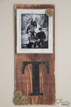 Repurpose scrap wood into a country-chic monogrammed wall display