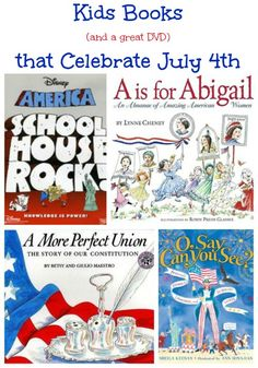 Kids Books & Activities that Celebrate July 4th - do you use books to help the kids understand history?  We love this set for learning about the flag, famous people and Independence Day. juli 4th, kids july 4th, 4th of july, reading kids, 4th juli, summer kid books, blog, books for kids, kids reading