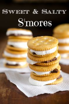 Sweet and Salty S'mores!  {yum!} Make these for his court of honor