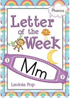 Phonics Letter of the Week Mm. A HUGE unit (81 pages) with all that you need for a letter of the curriculum: includes 26 games, activities and worksheets.