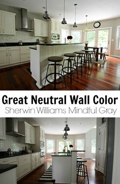 Sherwin Williams Mindful Gray. Great Neutral Paint Color!