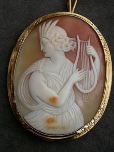 Vintage French 18k gold-shell cameo