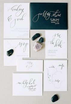 black and white stationery. So simple and so elegant!
