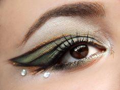 bronze, green eyeshadow, wing eyeshadow, eye makeup, discos, eyeshadow style, beauti, grey eyeshadow, bronz eyeshadow
