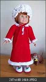 "Christmas Gown for 18"" Doll"