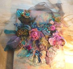 Beautiful Artisic Necklace textiles  GYPSY EVENING by Paulina