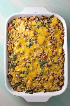 """Black Eyed Pea Casserole- fun for New Years Day! """"Oh, and about those black-eyed peas… tradition says that the peas– since they swell when they cook– are said to bring prosperity to those who eat them on New Year's Day.  I guess it's worth a shot, right?"""""""
