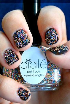 How-to: Textured Nails Caviar Manicure