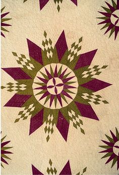 PA Dutch-like take on a Mariner's compass quilt quilt block, compass quilt, amish quilt, tradit quilt, antiqu quilt