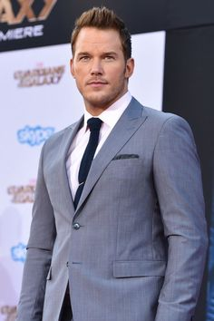 Chris Pratt at the 'Guardians of the Galaxy' premiere. Official Movie Star. And deservedly so!