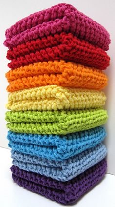 Diagonally Knit Dishclothes