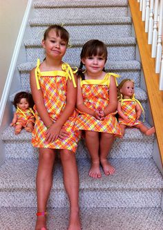 Adorable dresses!  Makes me wish my girls were still little ...