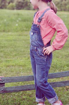 OshKosh has overalls in big kid sizes. Be still my heart. #OshKoshFirstDay