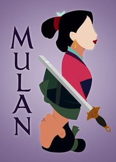 Favorite Disney princess. Ever.// I love the fact that, even thought she's not a princess, Mulan makes people respect her. Fave Disney movie EVER. This is what my daughters will grow up watching.