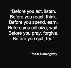 Ernest Hemmingway Quote