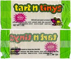 Tart n Tinys candy package - 1976.  I loved these