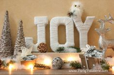 DIY JOY letters for