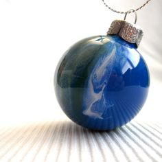 Ornament Painted Inside Earth Colors 2 Glass by creationsbyjdb, $12.00