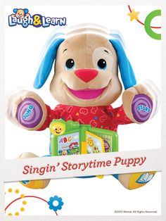 Over 40+ sing-along songs, stories & phrases keep your baby entertained with the Laugh & Learn Singin' Storytime Puppy. For a chance to win, click here: fpfami.ly/01497 #FisherPrice #Toys #ChildDevelopment