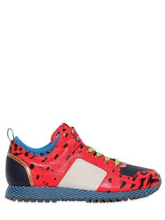 ADIDAS BY OPENING CEREMONY  NEW YORK LEOPARD PRINT LEATHER SNEAKERS