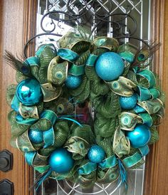Peacock wreath!!