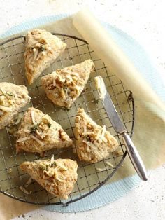 Savory Walnut Scones with Fresh Thyme