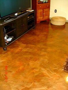Omaha Basement Floor Metallic Epoxy