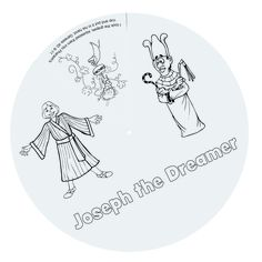 """Joseph's Dream Wheels (216-835) from Guildcraft Arts & Crafts!    Joseph's dreams and interpretations of others' dreams all appear on this wheel! This is a great craft to retell the story of Genesis 37 again and again. Includes preprinted top and bottom cardboard circles and fasteners. Decorating supplies sold separately. 8 1/2"""" diameter. Package of 24."""