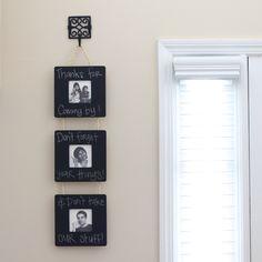 Chalkboard Picture Frames
