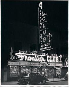 sign, las vegas, vintag vega, club open, rat pack, place, downtown las, frontier club