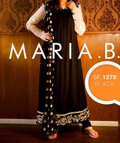 maria b eid collection 2013 for women and girls black and white dress MARIA B Beautiful Fancy Eid Collection 2013 for Girls & Women