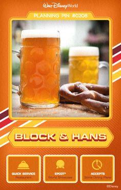 Walt Disney World Planning Pins: Block & Hans
