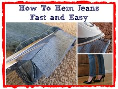 DIY Hem Jeans Fast and Easy