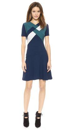 Nonoo Drop Waist Dress with Geo Detail