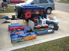 Harbor Freight 4x4 trailer and gear