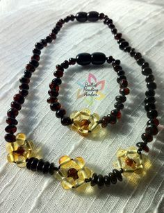 Matching Baby Baltic Amber necklace and by BalticHealingAmber, $33.00