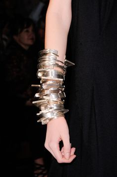 anndemeulemeest, 2014 detail, bangl, demeulemeest detail, silver bracelets, fashion accessories, jewelri, ann demeulemeester, style fashion