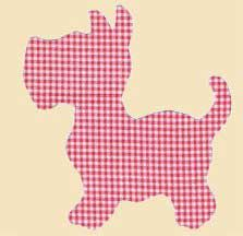 Free dog applique pattern