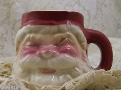 Vintage Original Sleeping Santa Claus Coffee Tea Mug Cup 1950s Ceramic Dimestore | eBay