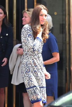 Kate Middleton steps out after attending a conference at The Royal Society of Medicine on Monday afternoon, 30.06.2014 in London, England.