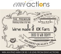 10K Fan Giveaway by Envi Actions Wow, 2013 has come with some major challenges, triumphs and changes! We started with a complete rebranding, formerly known as Rock My Edits, redesigned our entire store, was nominated as one of the top 7 Action companies in the incredible industry and now [...]