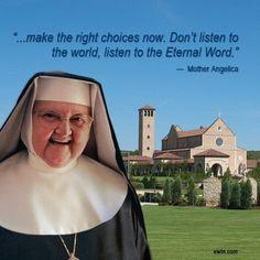 Watch Mother Angelica Live Classics, Tuesdays at 8 PM ET on EWTN. http://www.ewtn.com/channelfinder mothers, church girl, cathol faith, cathol inspir, beauti faith, cathol mother, mother angelica, cathol church, awestrucktv